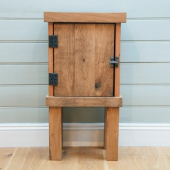 BED TIME CABINET.ENGLISH OAK AND PINE. £400-£450
